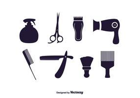 Insieme di vettore di strumenti del barbiere