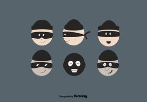 Set vettoriale gratuito di ladro
