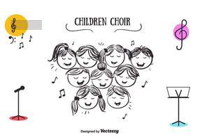 Vettore del coro di bambini