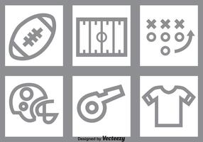 Set di icone di calcio grigio vettore