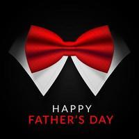 felice giorno di padri card con farfallino rosso vettore