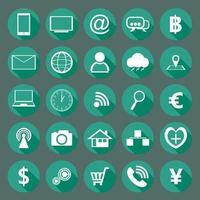 collezione di design moderno di icone piatte vettore
