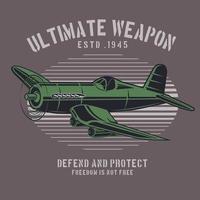 emblema dell'aeroplano verde campo di battaglia