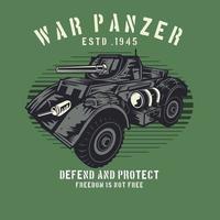 carro armato di guerra militare sul verde