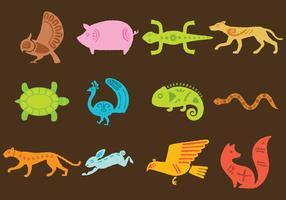 Vettori animali tribali