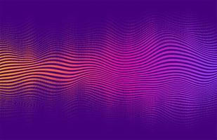 disegno a gradiente vibrante stile mezzetinte ondulato vettore
