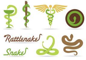 Vettori di logo del serpente