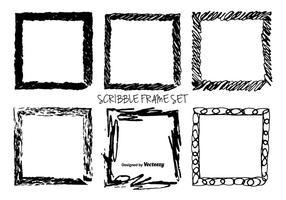 Disegnato a mano disordinato cornici vettoriali Scrible