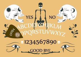 Bordo di Ouija in vettoriale