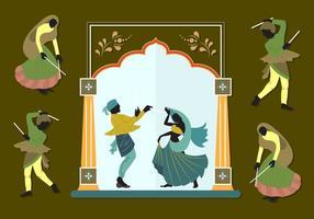 Illustrazione vettoriale di coppie indiane