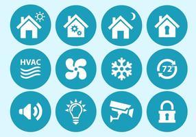 Icone di interfaccia domestica e di sicurezza vettore
