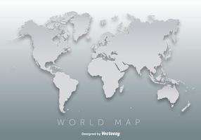 Vettore della siluetta della mappa 3D del mondo