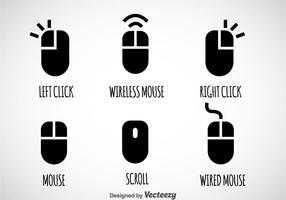 Set vettoriale clic del mouse