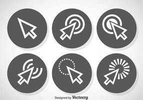 Set di icone del cursore del mouse vettore