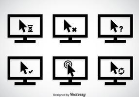 Clic del mouse con set di monitor vettoriali