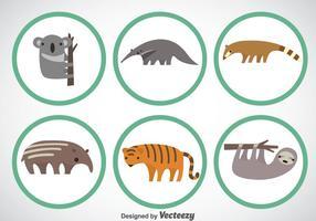 Set vettoriale di animali selvatici