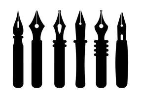 Vettori di pennino penna