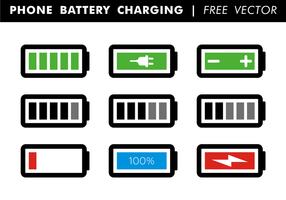 Batteria del telefono che carica vettore libero
