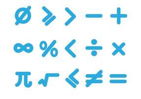 Icone gratis di matematica messe Vettore