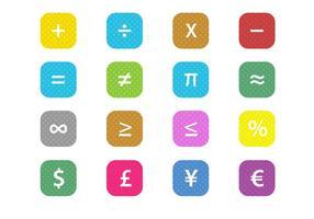 Vettore libero di simboli finanziari di per la matematica