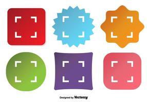 Icone di vettore di Viewfiner