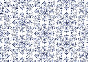 Vettore di sfondo floreale blu