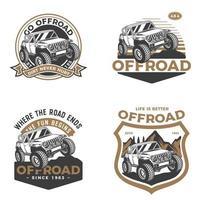 set di badge per fuoristrada