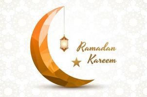 Eid Mubarak sfondo geometrico oro mezzaluna luna