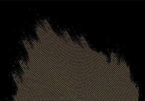 punto oro astratto e sfondo nero vettore