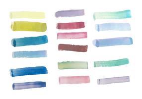 Confezione di vettore di tratti di pennello colorato gratis