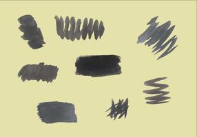 Vettori di pennellate nere gratis