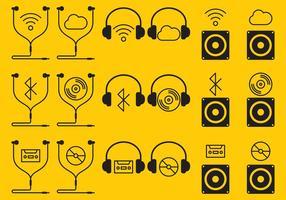 Icone di Ear Buds vettore