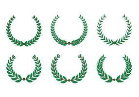 vettore di corona d'ulivo