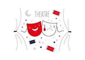 Vettore libero del teatro
