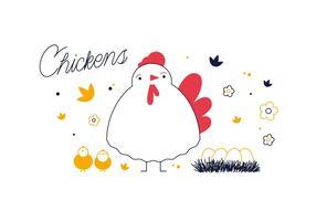 Vettore di polli gratis