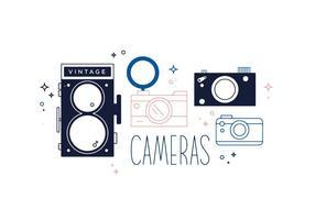 Vettore gratuito di macchine fotografiche