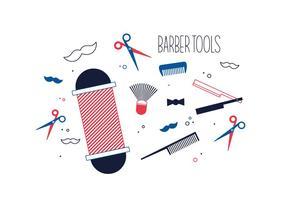Vettore gratuito di strumenti del barbiere