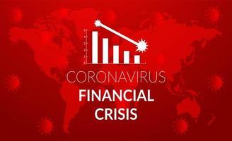 grafico di crisi caduta rossa coronavirus rosso