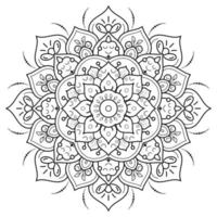 pagina da colorare mandala floreale circolare