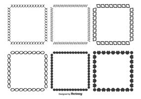 Set di frame vettoriali disegnati a mano