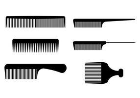 strumenti del barbiere pettina i vettori
