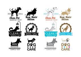 Vettori di logo di lavaggio del cane