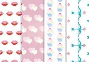Valentine Vector Seamless Patterns