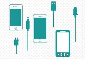 Vettore gratuito caricabatterie smart phone