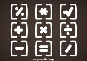 Vettore di simboli di matematica bianca
