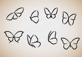 Vettore libero delle siluette delle farfalle