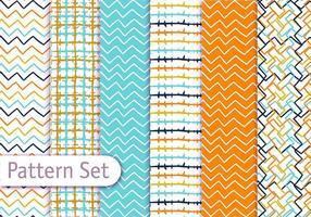 Set di pattern art linea colorata vettore