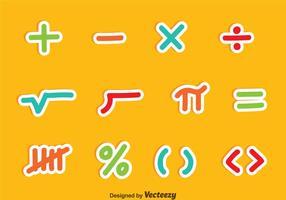 Simboli matematici Set vettoriale colorato