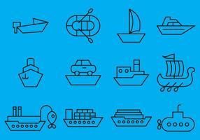 Icone di navi di vettore