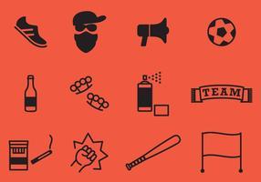 vettori di icone hooligan
